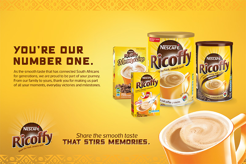 Nescafe Ricoffy named top brand in South Africa